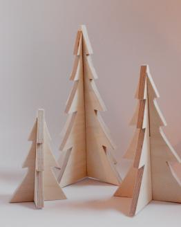 Juletræer i birketræ