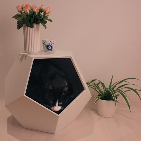 hunde- & kattehus bestående af 5 kanter